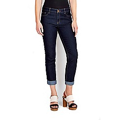 Wallis - Indigo roll up jean