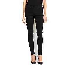 Wallis - Black skinny zip front jean