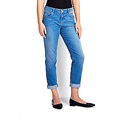 Wallis - Light blue roll up jean