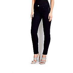 Wallis - Indigo zip pocket skinny