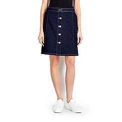 Wallis - Indigo a-line midi skirt