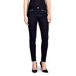 Wallis - Denim skinny ankle zip trouser