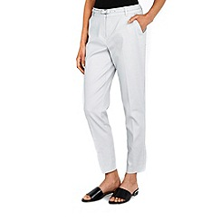 Wallis - Grey belted cigarette trousers