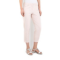 Wallis - Blush cotton stretch trouser