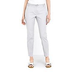 Wallis - Grey cotton cigarette trouser