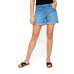 Wallis - Skyblue roll hem shorts