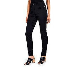 Wallis - Black zip pocket soft trousers