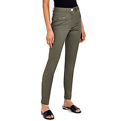 Wallis - Khaki zip pocket soft trousers