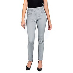 Wallis - Silver zip pocket soft trousers