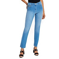 Wallis - Light blue harper straight jeans