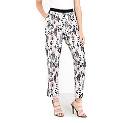 Wallis - Ivory printed trousers