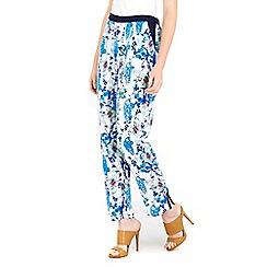 Wallis - Blue printed trousers