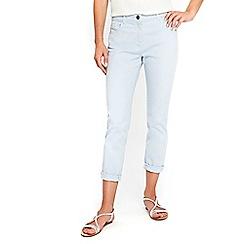 Wallis - Scarlet blue roll up jeans