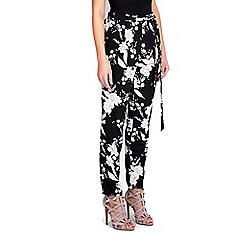 Wallis - Monochrome floral print trouser