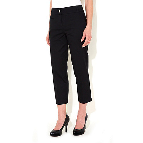 Wallis - Black cropped trousers