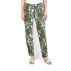Wallis - Khaki palm print trouser