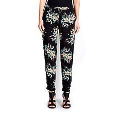 Wallis - Black palm print jogger trouser