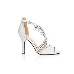 Wallis - Light grey jewelled sandals
