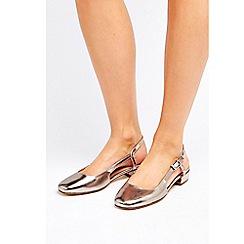 Wallis - Grey slingback shoes