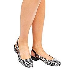 Wallis - Monochrome sling back shoes