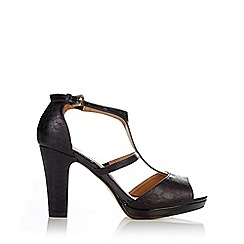 Wallis - Black t-bar paltform sandal