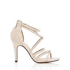 Wallis - Gold knotted heeled sandal