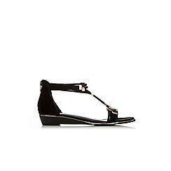 Wallis - Black and gold gladiator sandal
