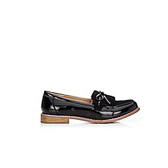 Wallis - Black bow loafer shoes