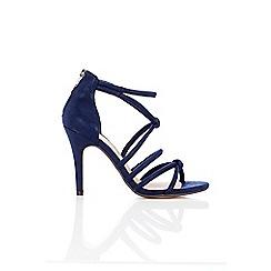 Wallis - Navy knotted heeled sandal