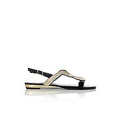 Wallis - Black metallic flat sandal