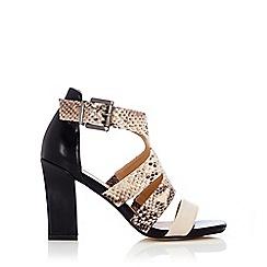 Wallis - Snake print gladiator heel