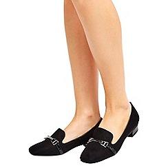 Wallis - Black slipper loafer shoes
