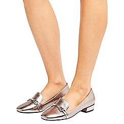 Wallis - Silver slipper loafer shoes