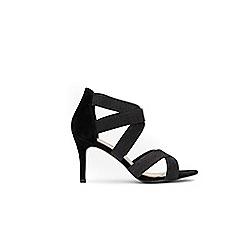 Wallis - Black star cross strap sandals