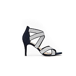 Wallis - Silver star elastic cross strap sandals