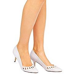 Wallis - Grey mid heel court shoes