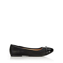 Wallis - Black small trim ballerina