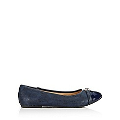 Wallis - Navy small trim ballerina