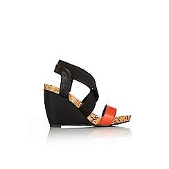 Wallis - Cross strap wedge sandal