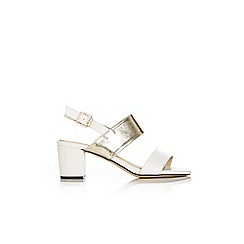 Wallis - White block sling back sandal