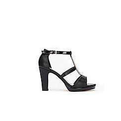 Wallis - Black zip detail platform sandals