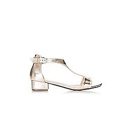 Wallis - Gold t-bar sandals