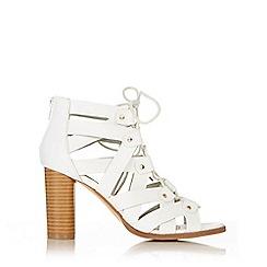 Wallis - White gladiator heeled sandal