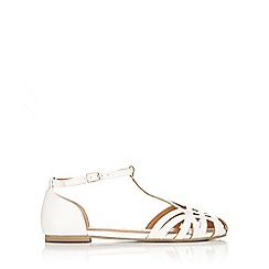 Wallis - White t-bar sandal