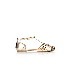 Wallis - Gold t-bar sandal
