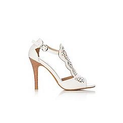 Wallis - White peep toe sandal