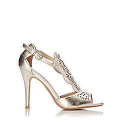 Wallis - Gold peep toe sandal