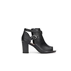 Wallis - Black peep toe ankle boots