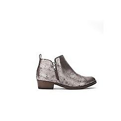 Wallis - Grey side zip ankle boots