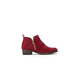 Wallis - Berry side zip ankle boots